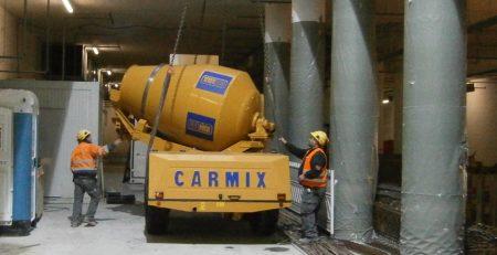 Xe trộn bê tông tự hành Carmix 5.5XL