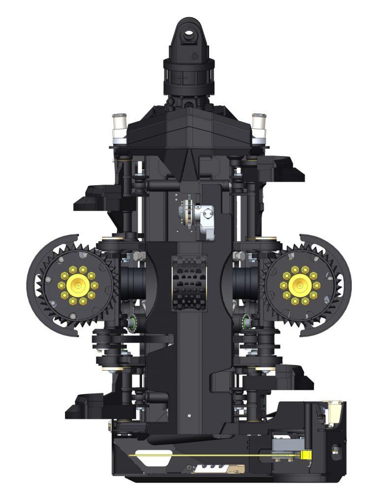 Bộ khai thác gỗ AFM-55-2 gắn cho máy xúc đào