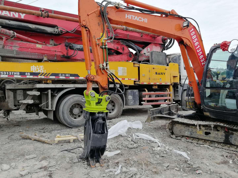 máy xúc đào lắp bộ gắp xoay 360 độ