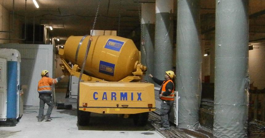 Carmix 5.5xl thi công hầm